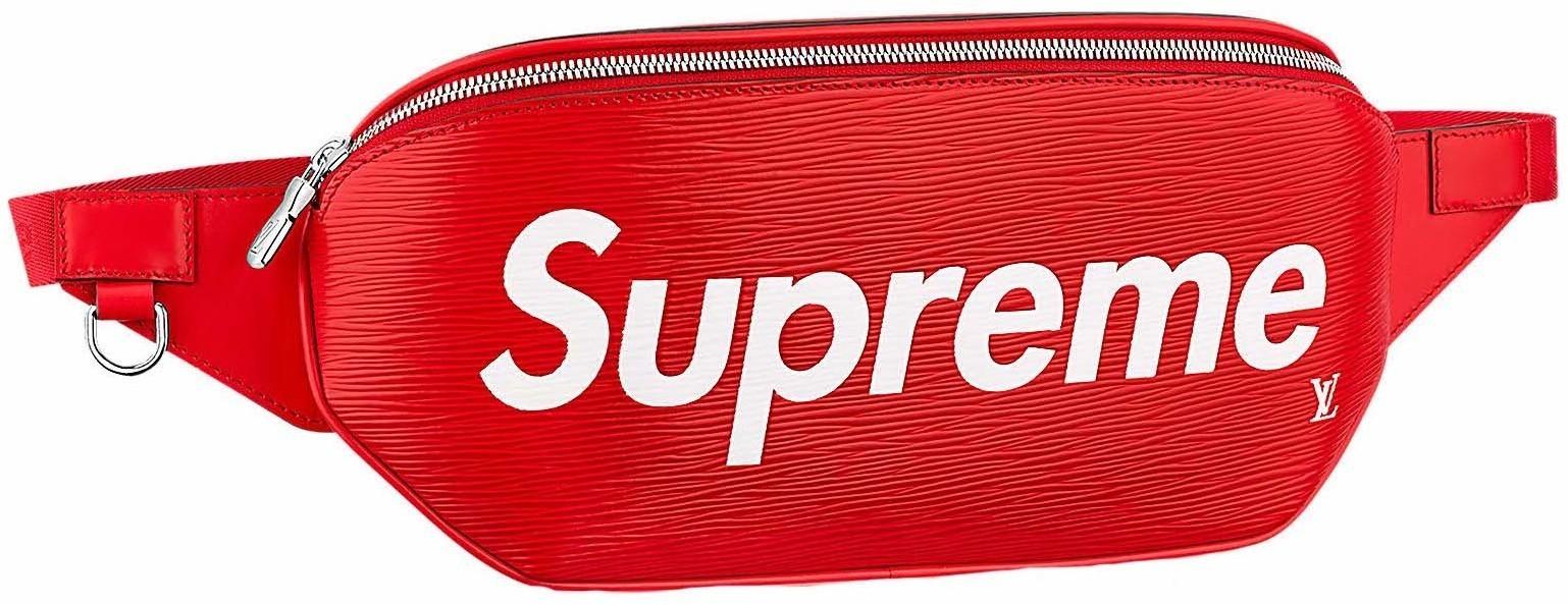 8a045edab89c HypeAnalyzer · Louis Vuitton x Supreme Bumbag Epi Red