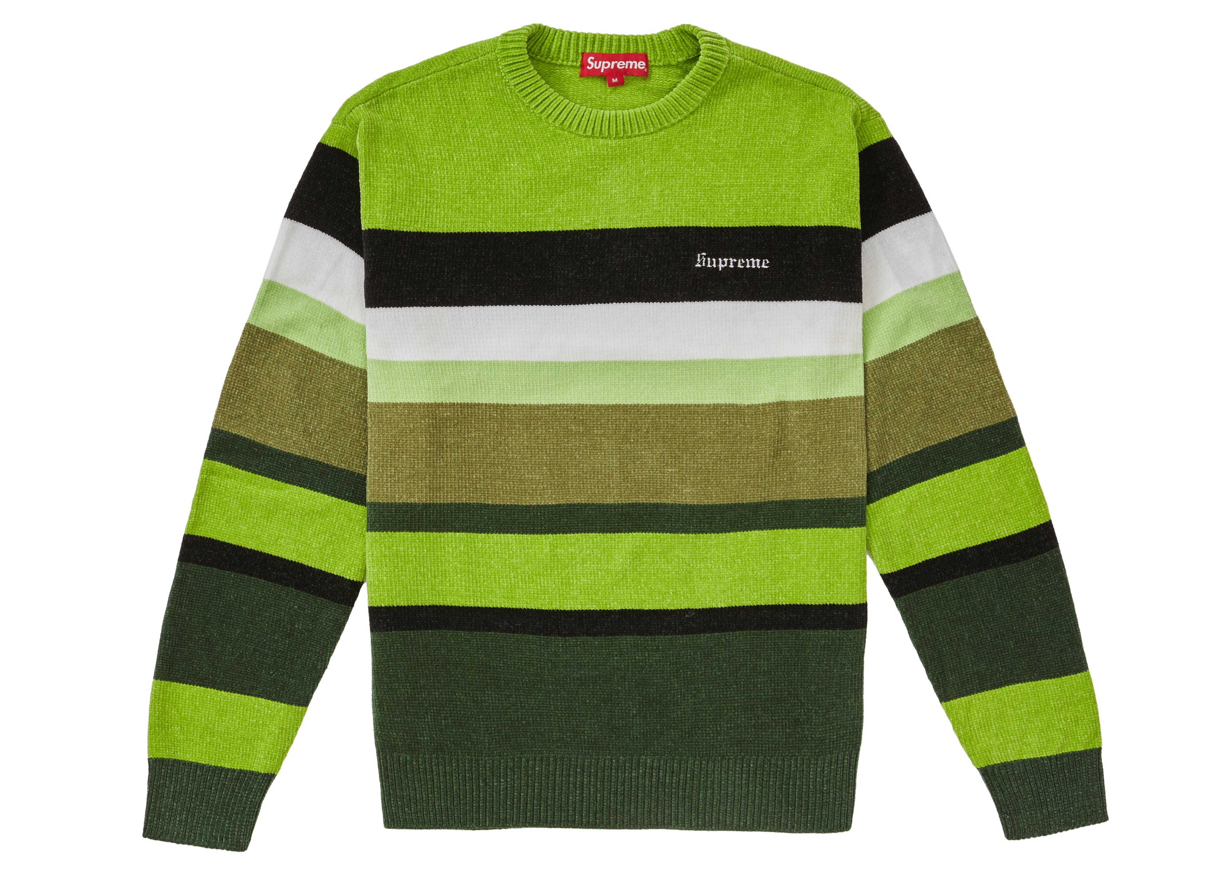 157f5fde189 HypeAnalyzer · Supreme Chenille Sweater Green