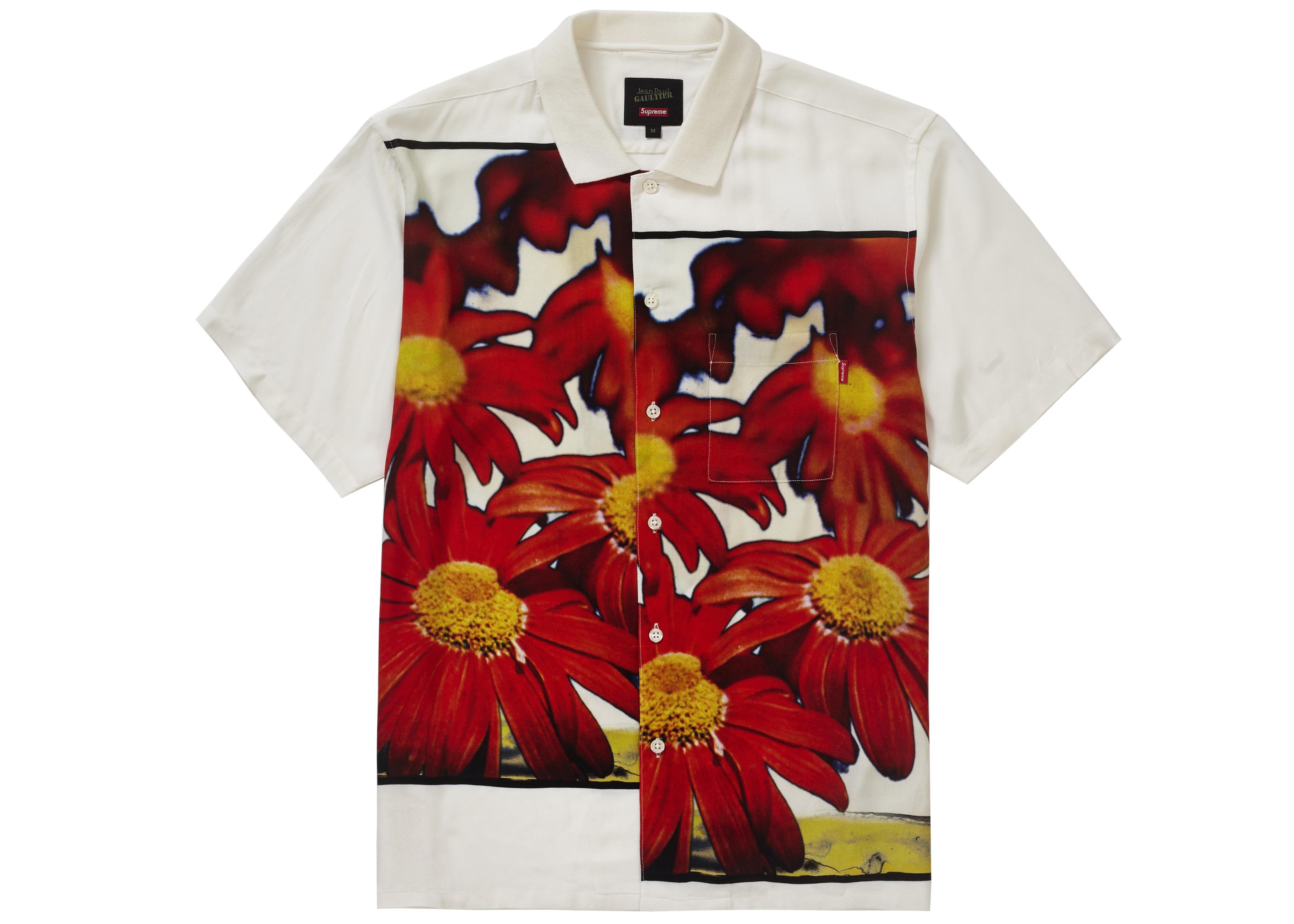 b94cad4fb7 HypeAnalyzer · Supreme Jean Paul Gaultier Flower Power Rayon Shirt White