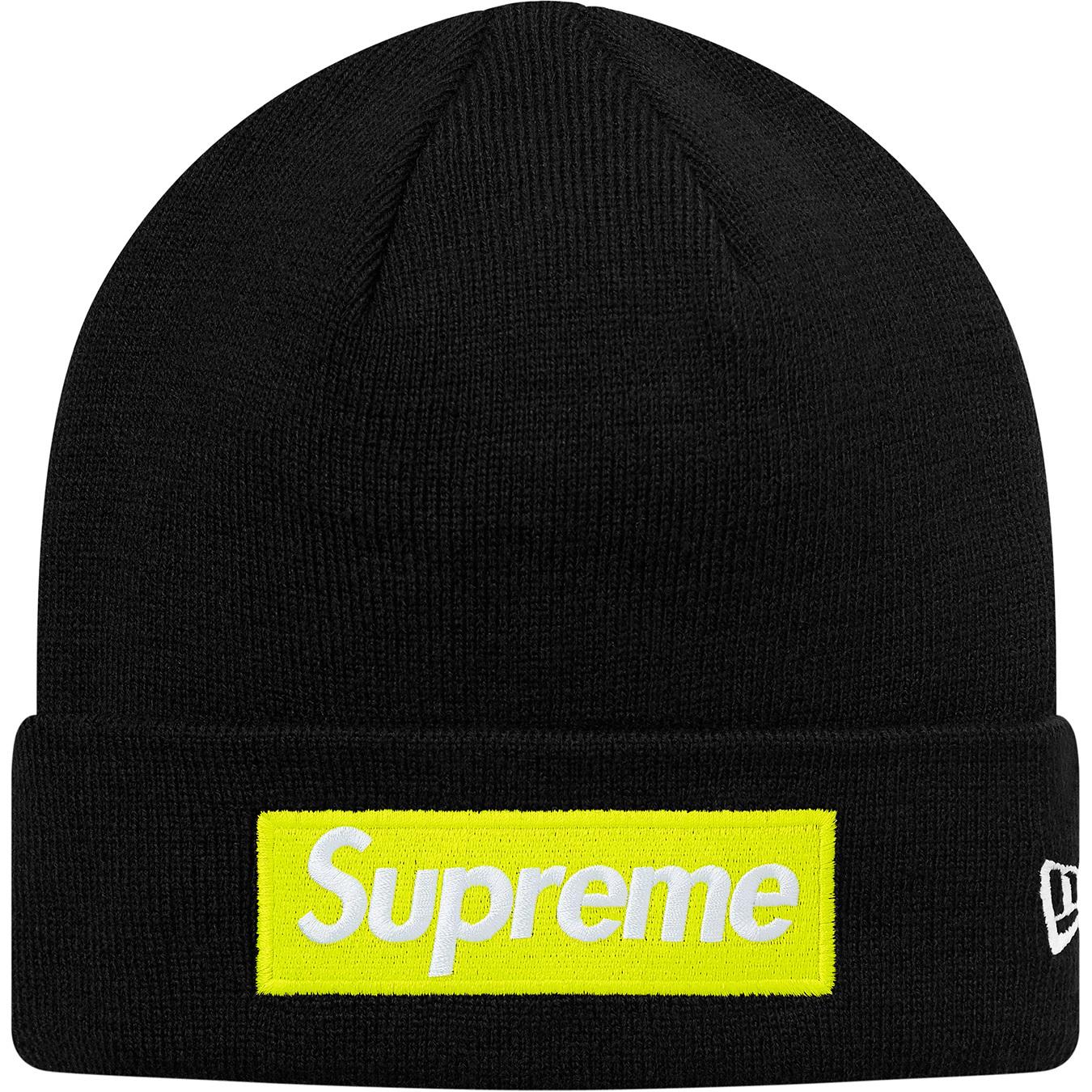 f51f1158039 HypeAnalyzer · Supreme New Era Box Logo Beanie (FW17) Black