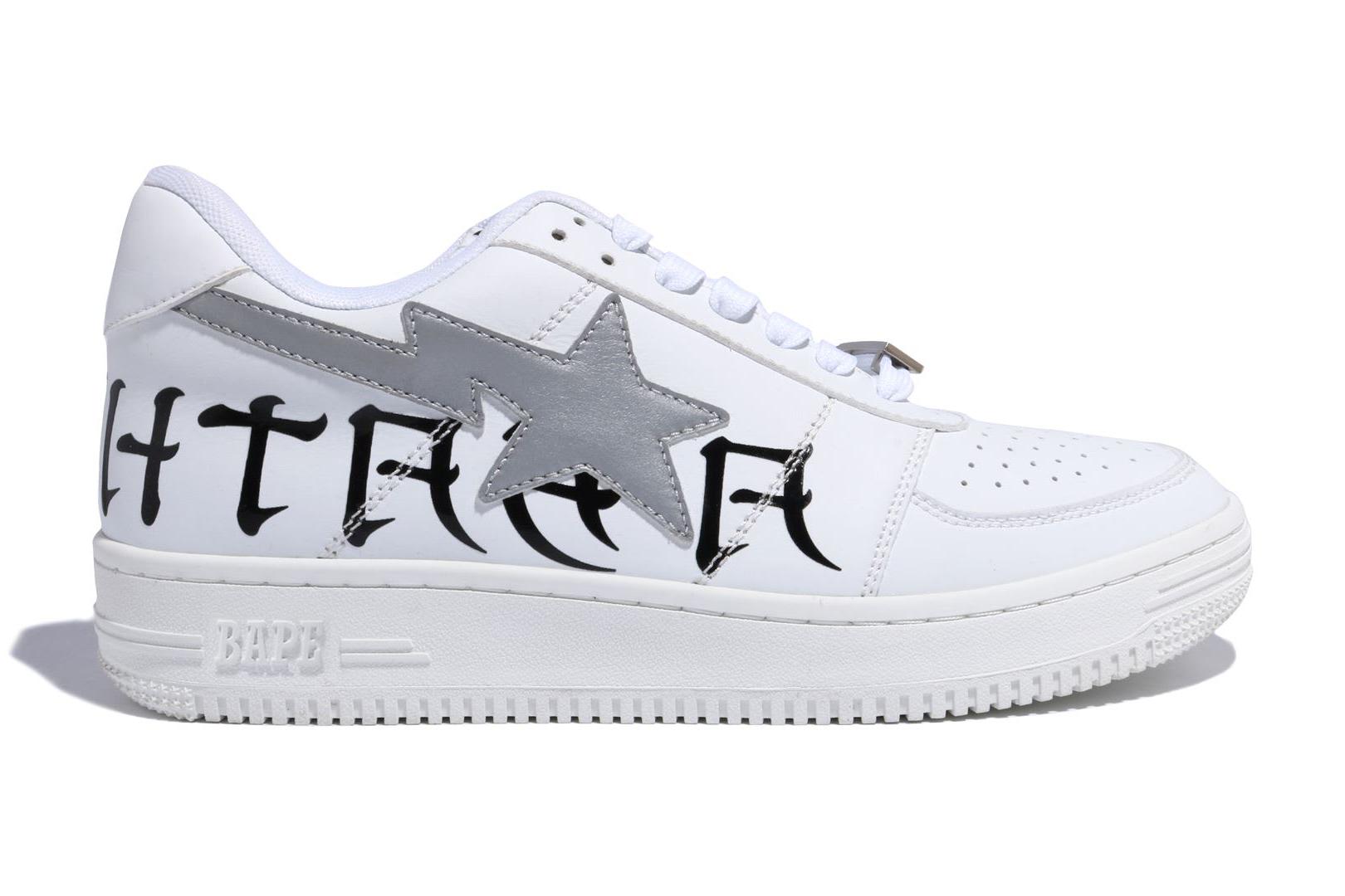 A Bathing Ape Bapesta White 3M - Sneakers