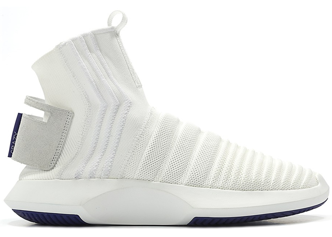 f898130562d7 ... CQ1012 Mens Primeknit Textile quite nice 21cca 00c6e  adidas Crazy 1  Adv Sock Footwear White Real Purple for whole family 98873 75272 ...