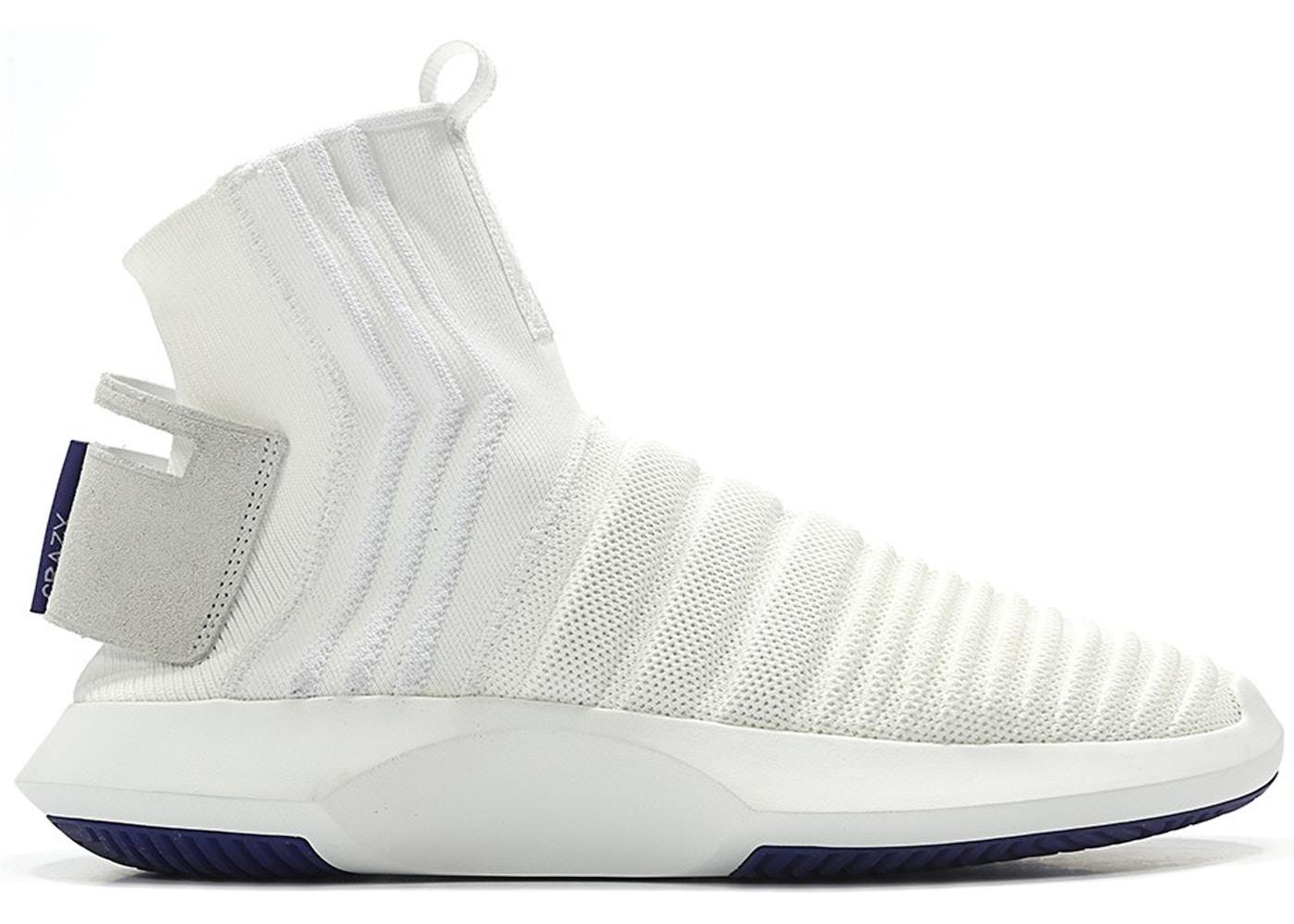 new concept e7062 2a058 adidas Crazy 1 Adv Sock Footwear White Real Purple