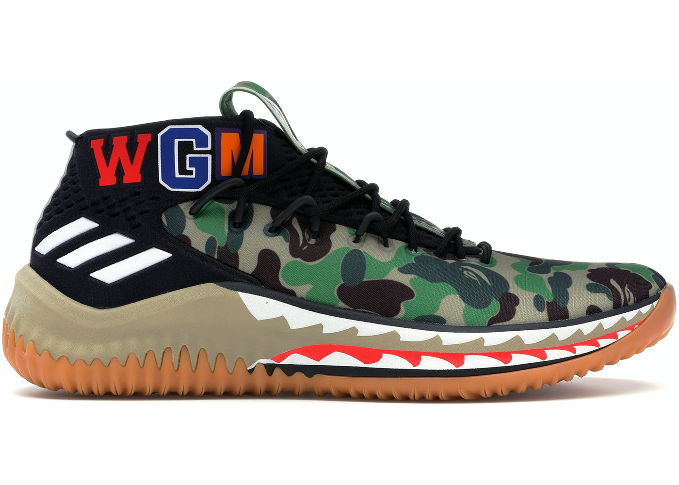 be969547 adidas Dame 4 A Bathing Ape Camo - AP9974