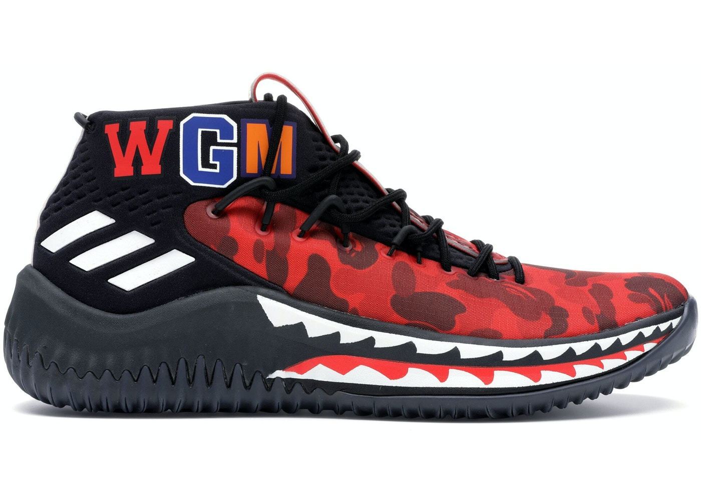 low priced 57382 6be9f adidas Dame 4 A Bathing Ape Red