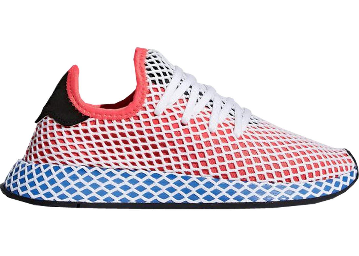 new product d7ea2 7fa2d adidas Deerupt Solar Red Bluebird (GS)