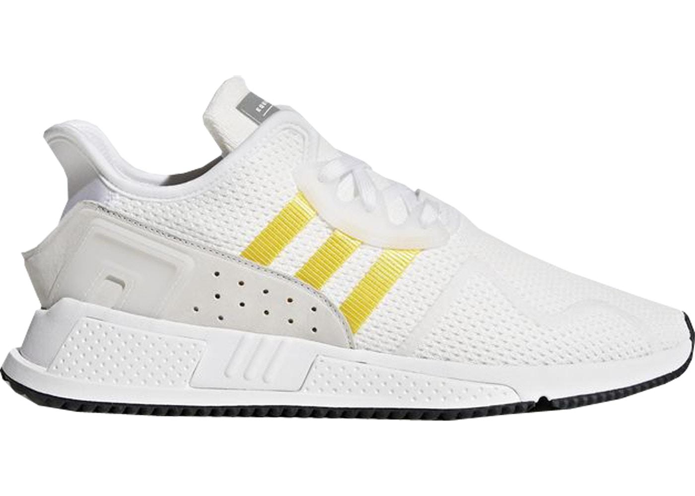 sports shoes a12d4 7d71c adidas EQT Cushion Adv White Equipment Yellow