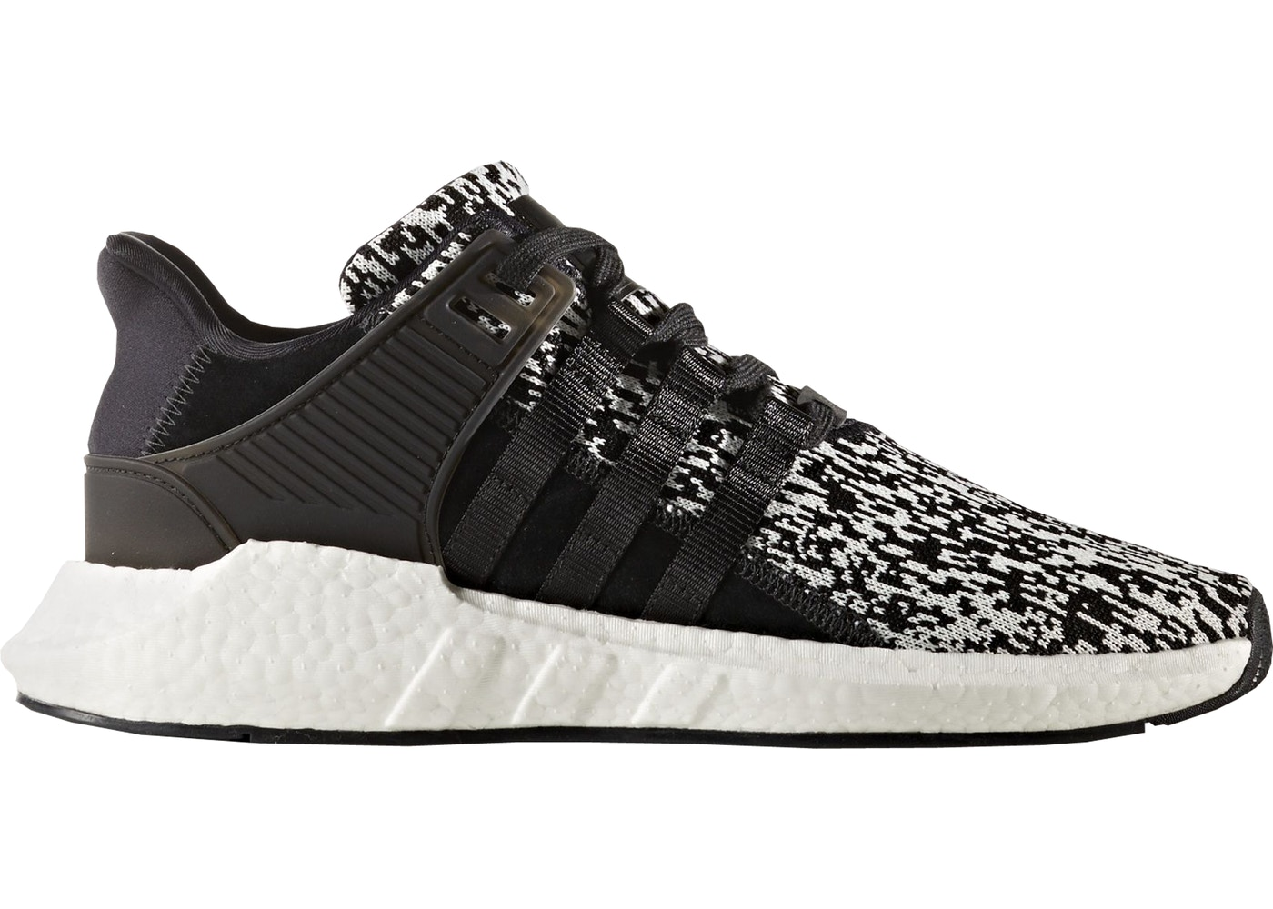 detailed look 57d49 a060a adidas EQT Support 9317 Glitch Black White - BZ0584