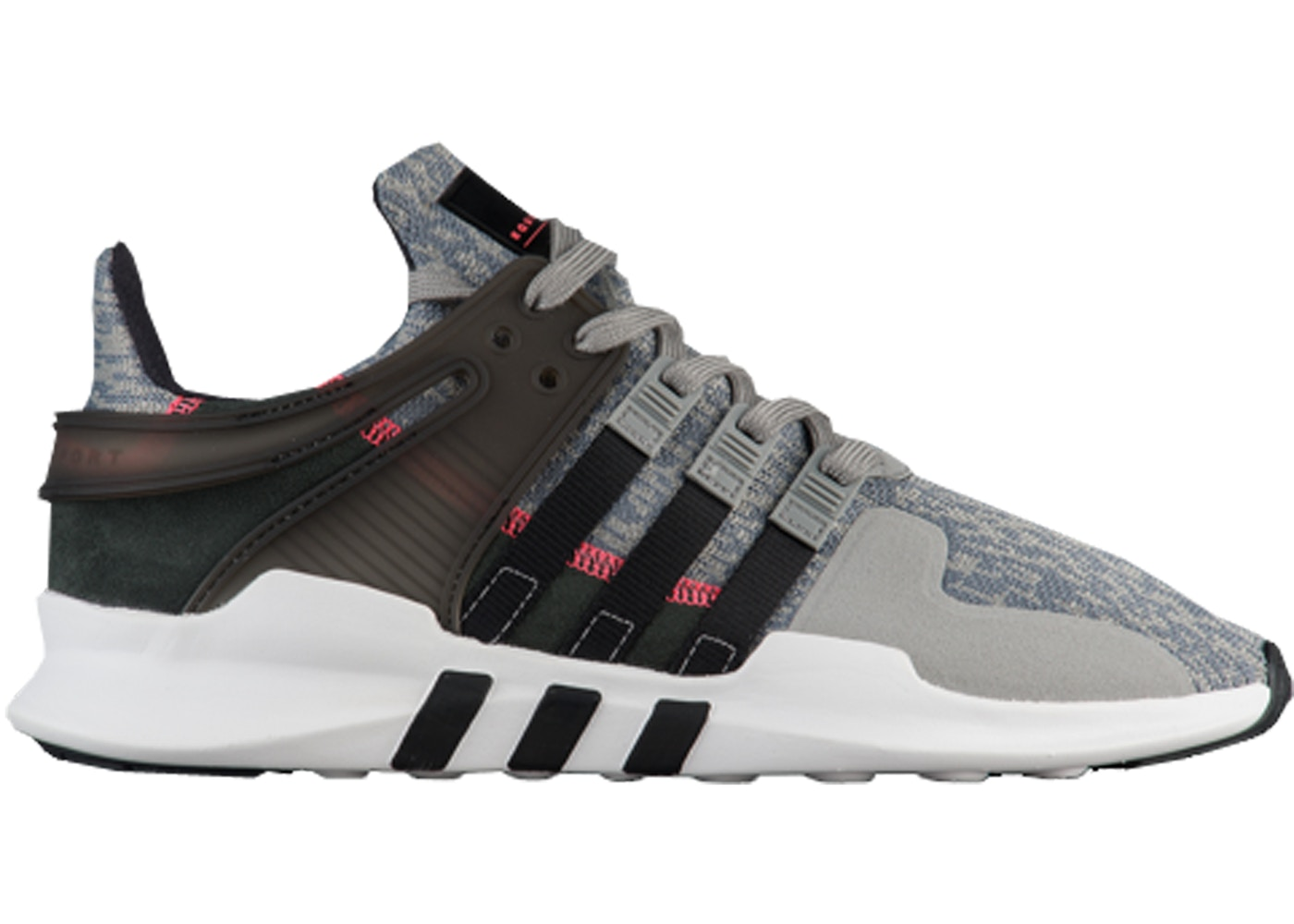 sale retailer f8b24 7a6ec adidas EQT Support ADV Grey Black Turbo Red