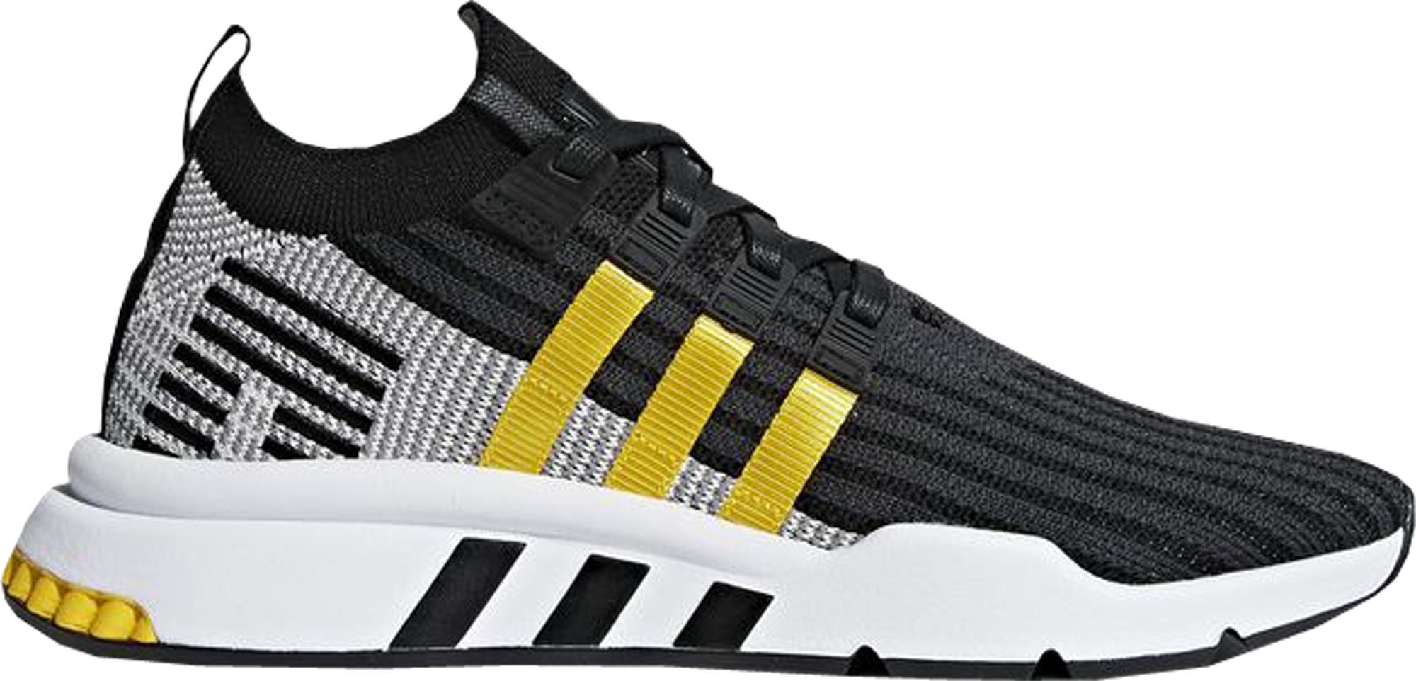 adidas EQT Support Mid Adv Black Equipment Yellow