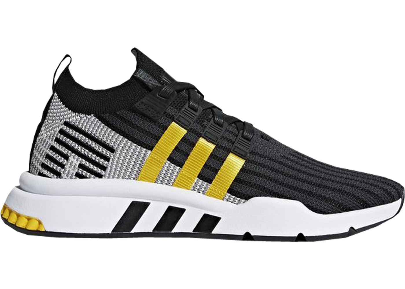 brand new ef4a3 31c9b adidas EQT Support Mid Adv Black Equipment Yellow