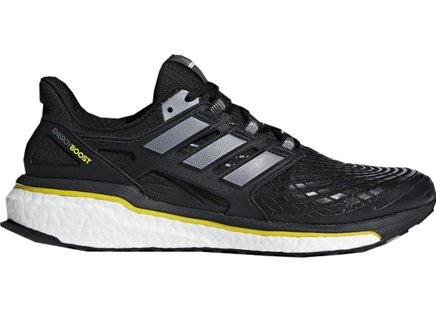 taille 40 0a595 e1da7 adidas Energy Boost 5th Anniversary Black Yellow