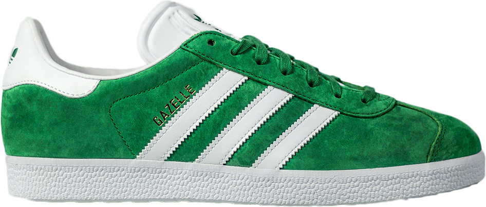 adidas Gazelle Green/White/Gold