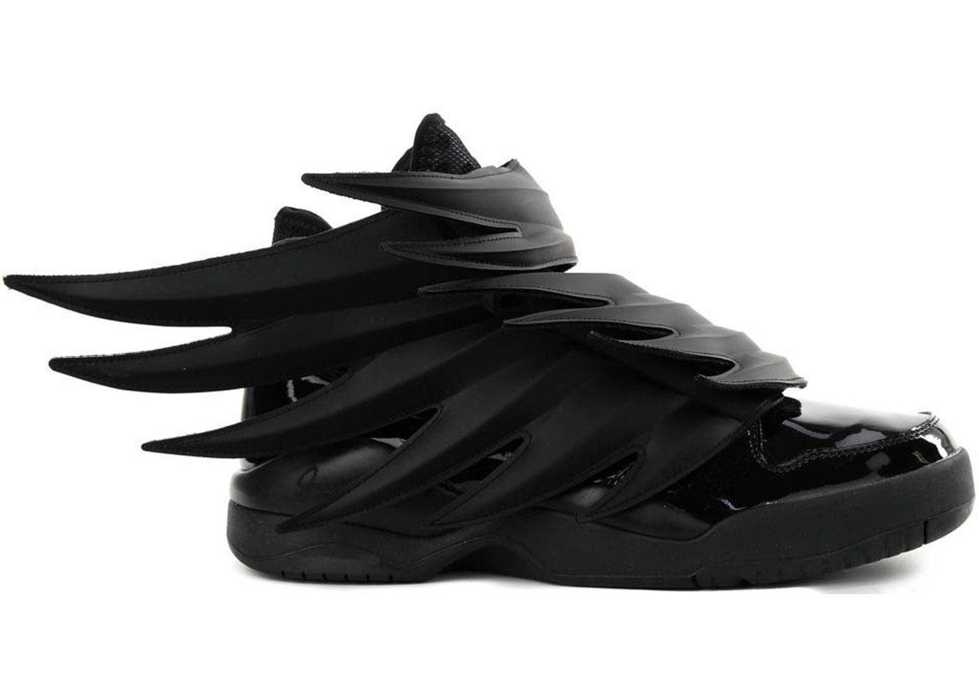 reputable site d35b4 f7a01 adidas Jeremy Scott Wings 3.0 Dark Knight