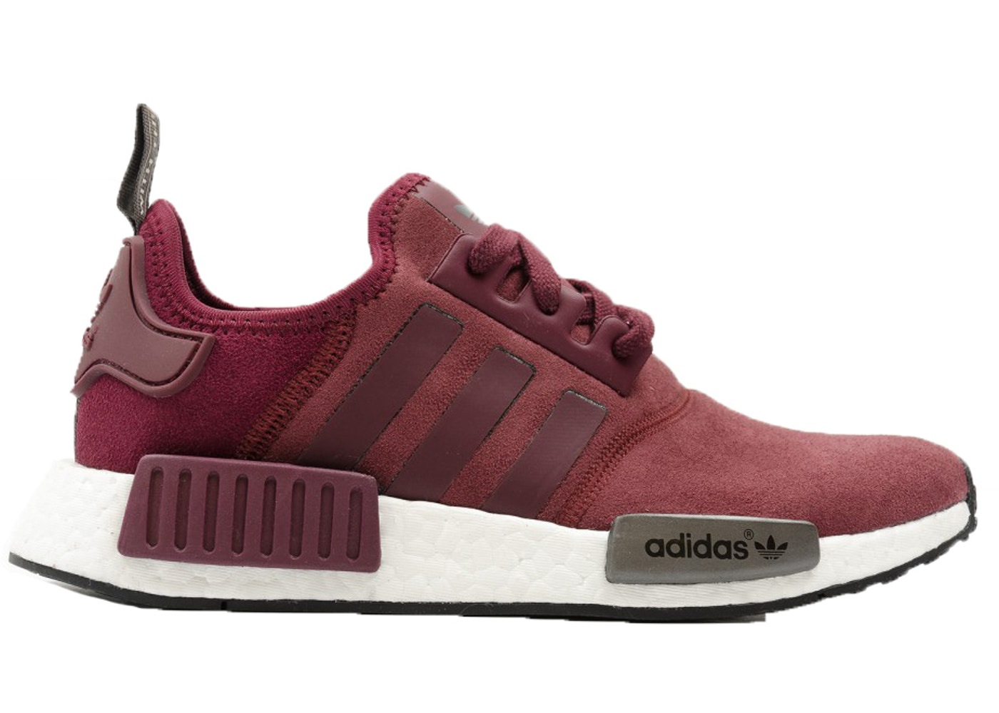 d8d33278c6a9e adidas NMD R1 Maroon Suede (W) - S75231