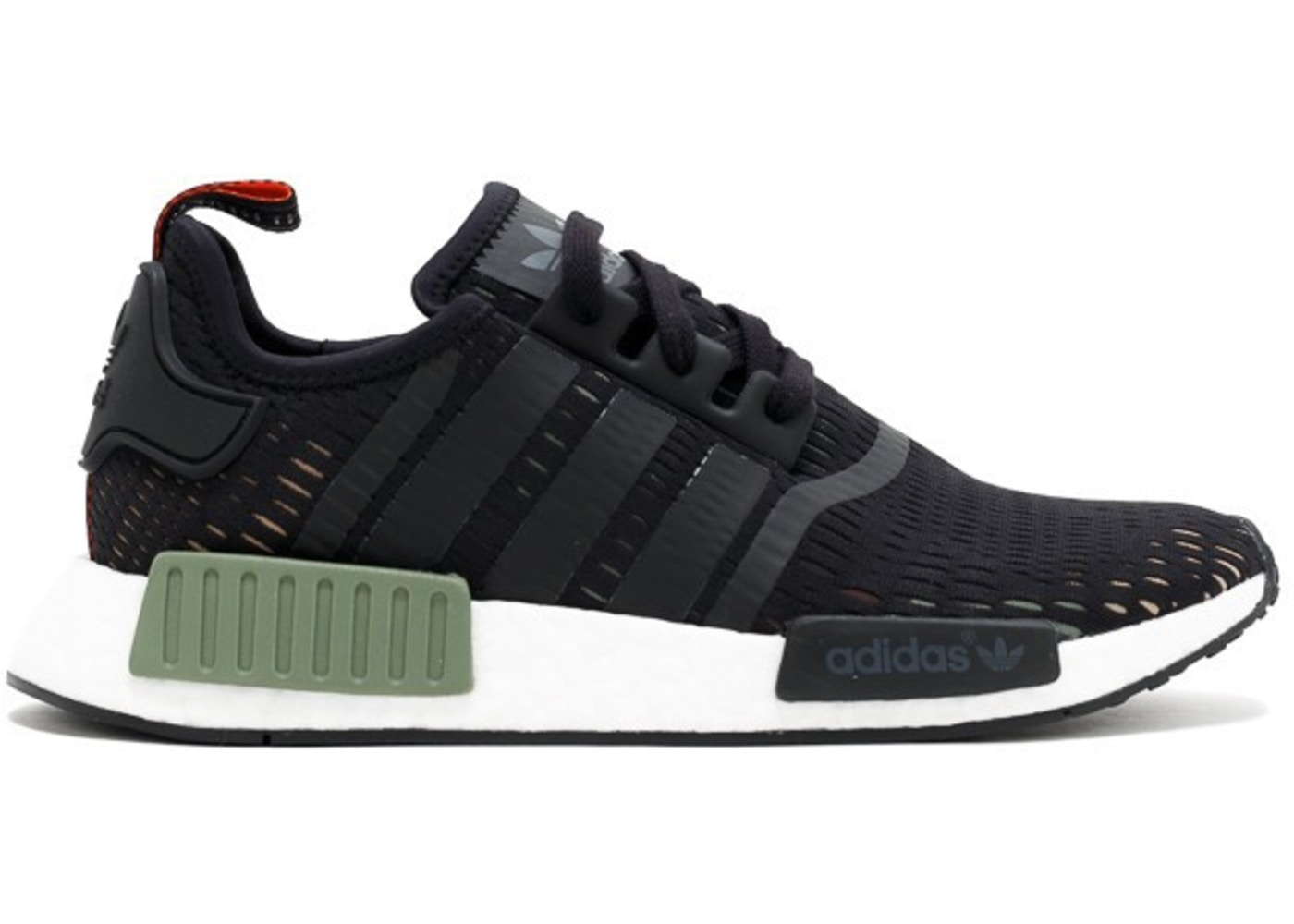 best sneakers factory outlets fashion styles adidas NMD R1 Base Green Core Black