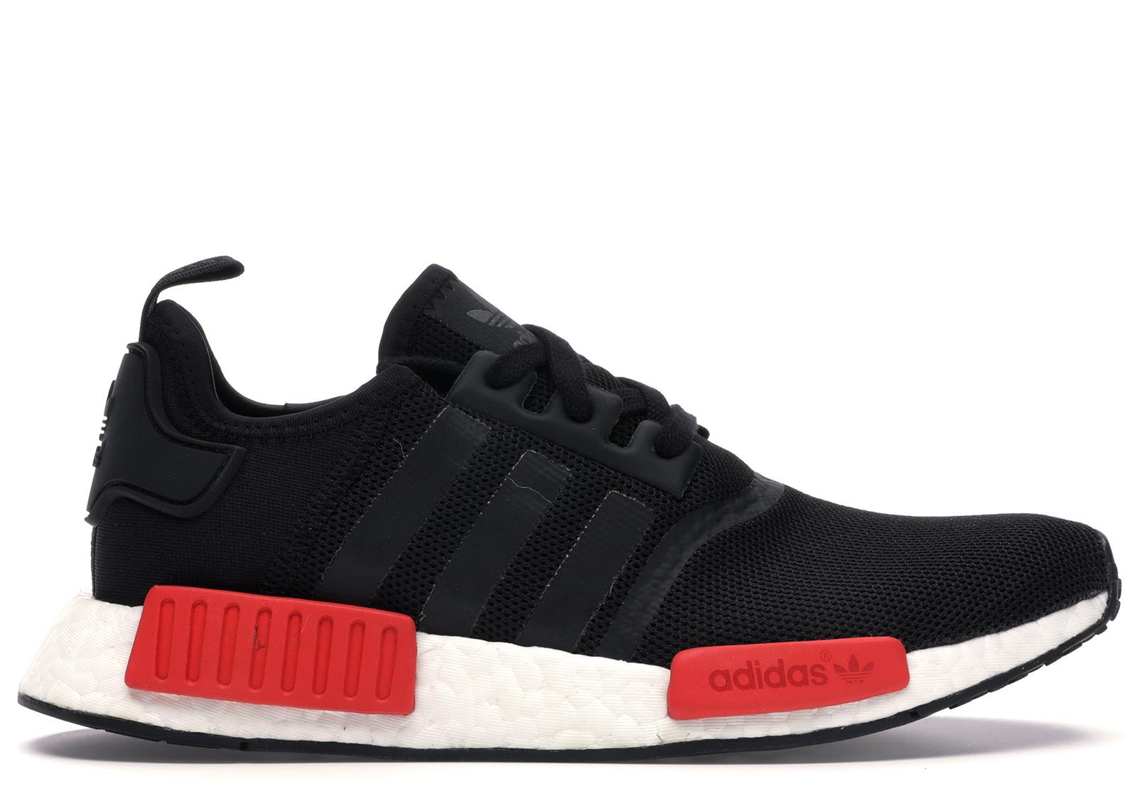 adidas black red nmd