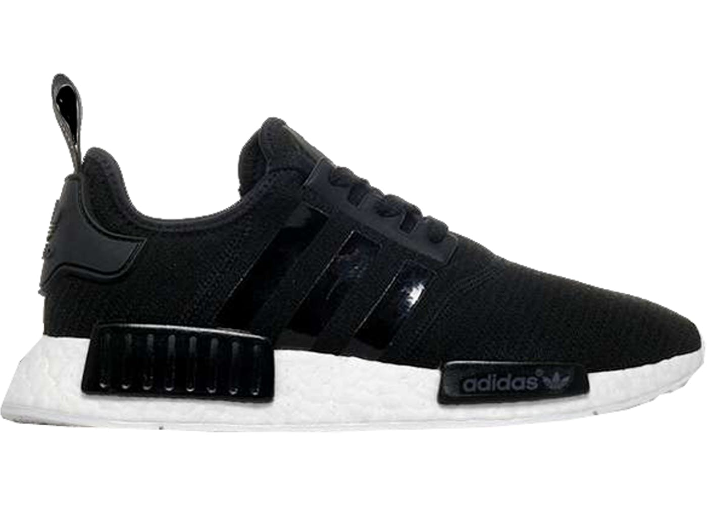 9d0c8049853f0e adidas NMD R1 White Black Flyknit Trainer