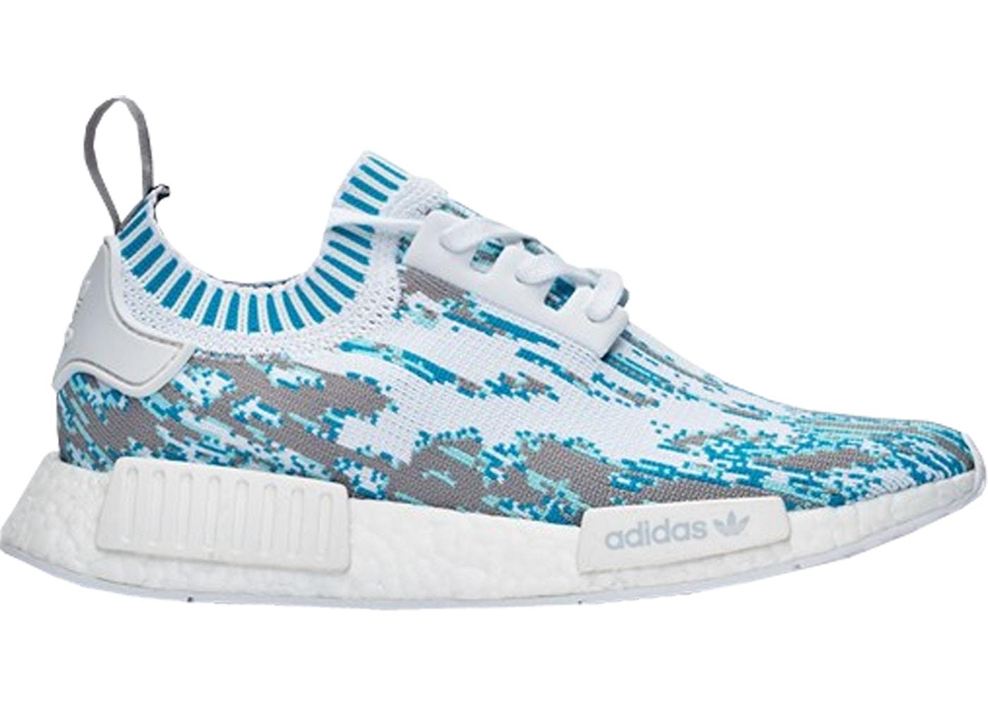 6976101038027 adidas NMD R1 Sneakersnstuff Datamosh Clear Aqua - BB6364