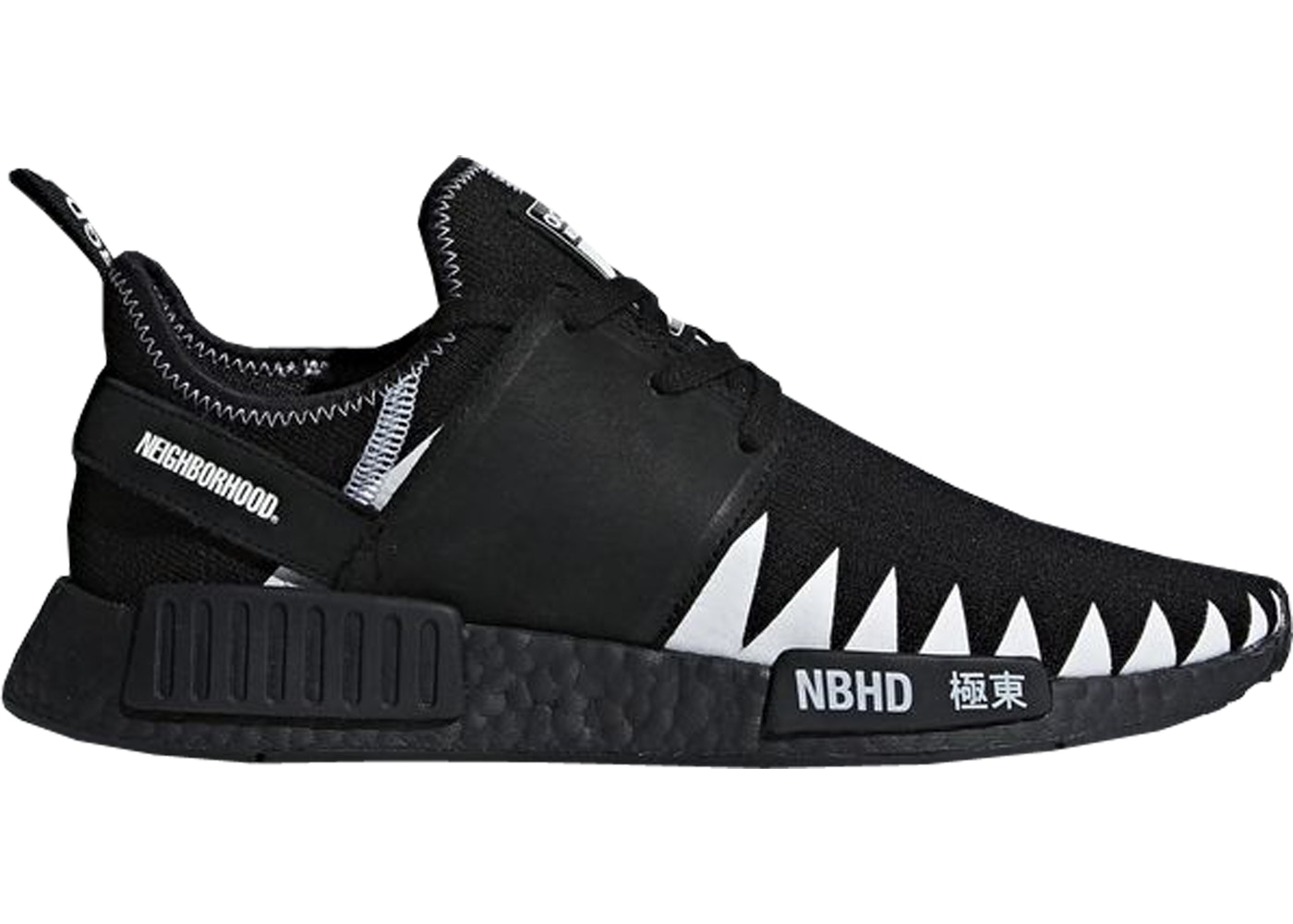 low priced 66668 a8bde adidas NMD R1 Neighborhood Core Black
