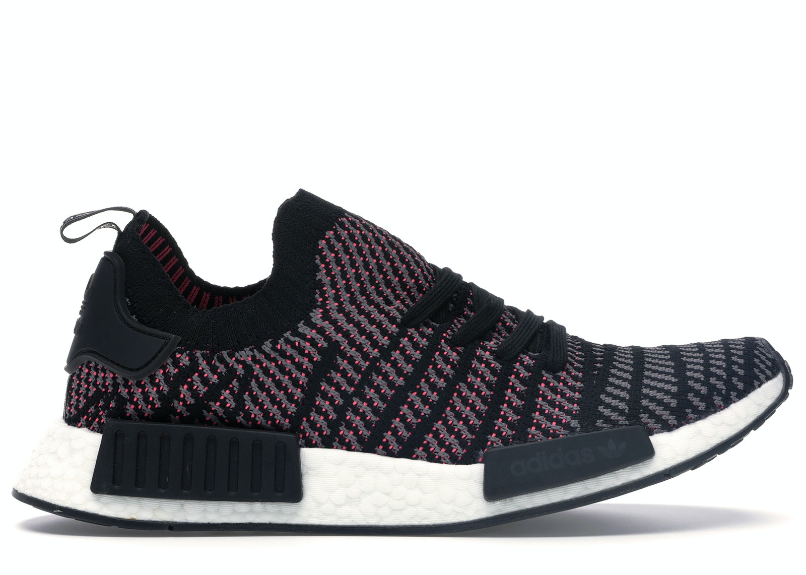 adidas NMD R1 STLT Black Grey Solar Pink