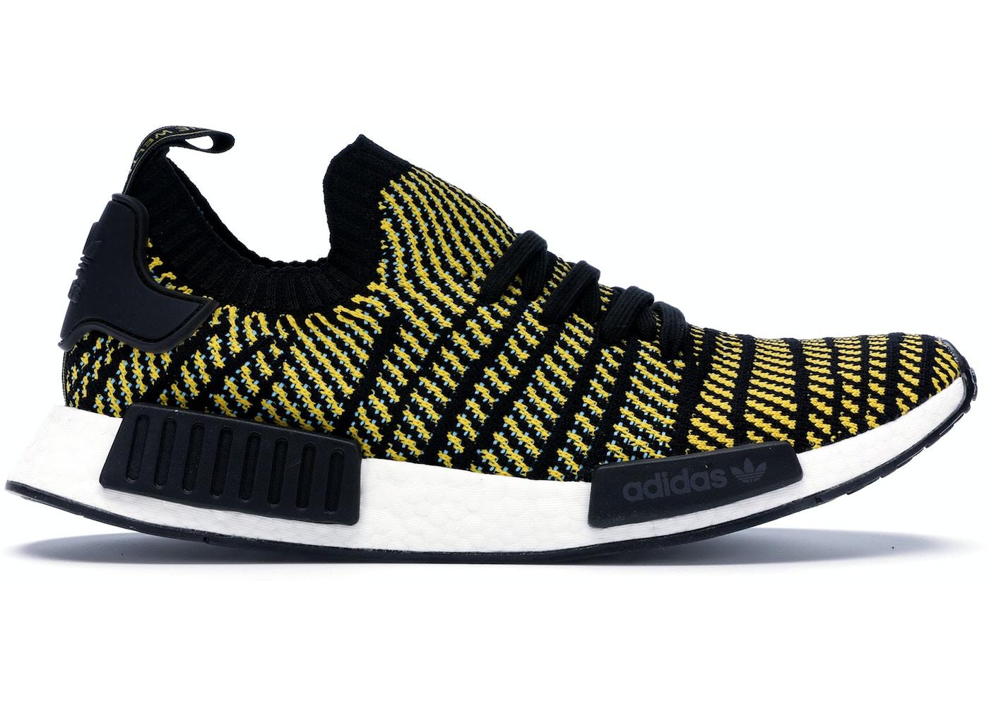 new styles bc2d7 6d2c2 adidas NMD R1 STLT Black Yellow