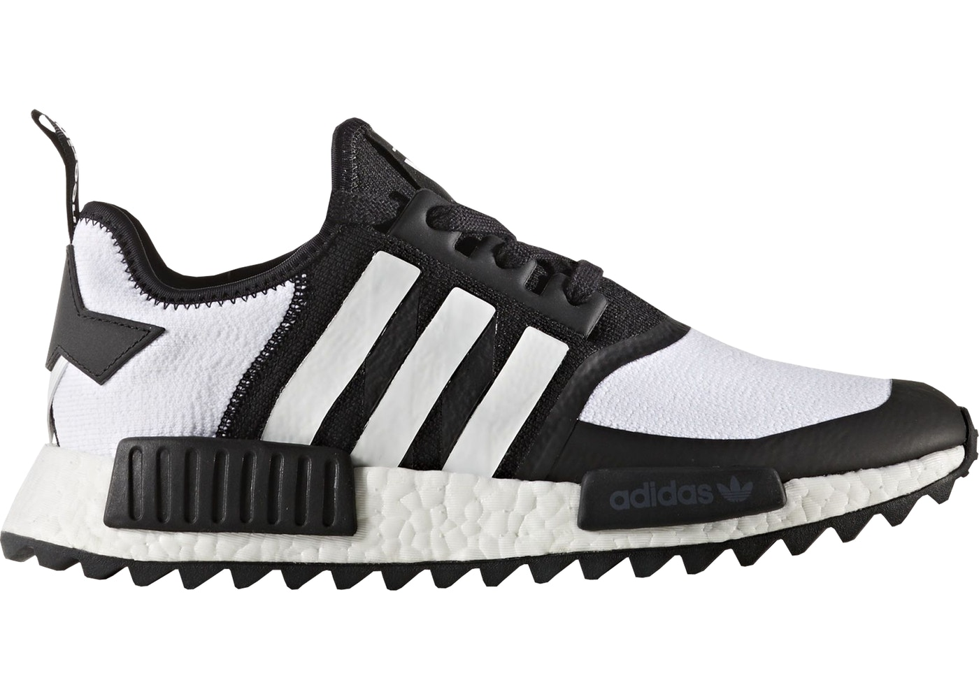 newest 739ad 3698f adidas NMD R1 Trail White Mountaineering Black White