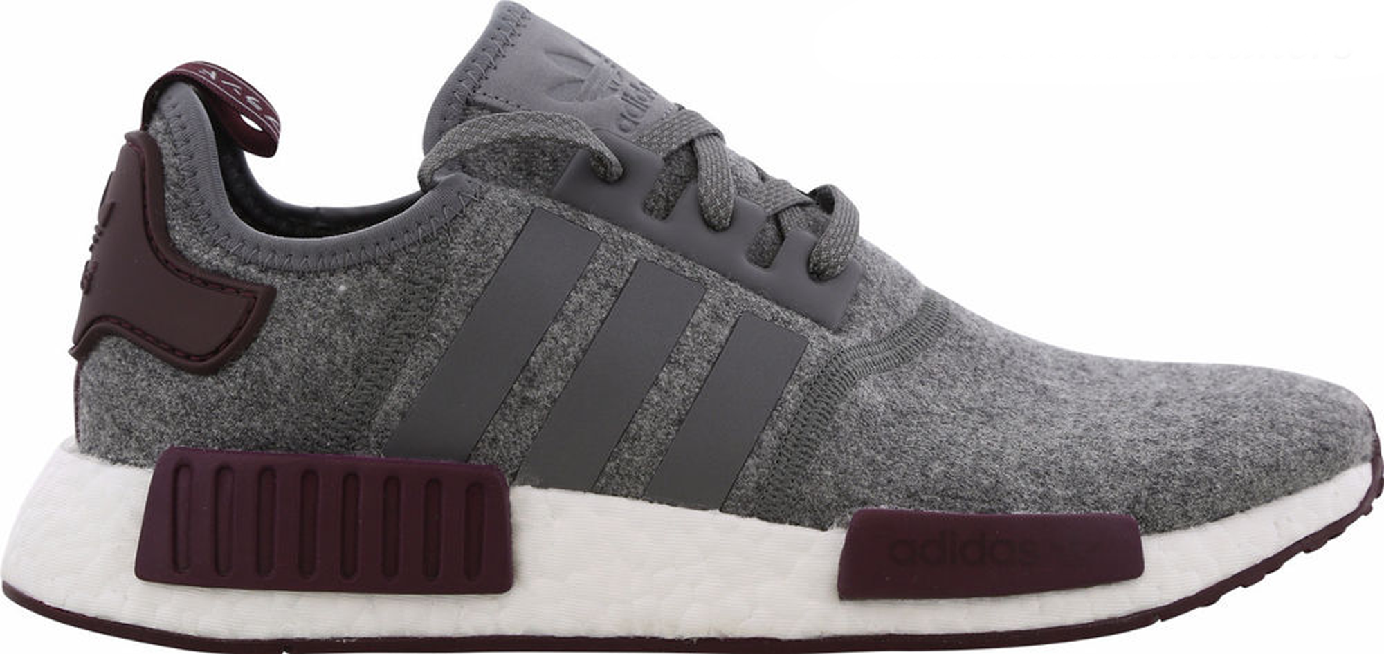 adidas NMD R1 Wool Grey Four Maroon