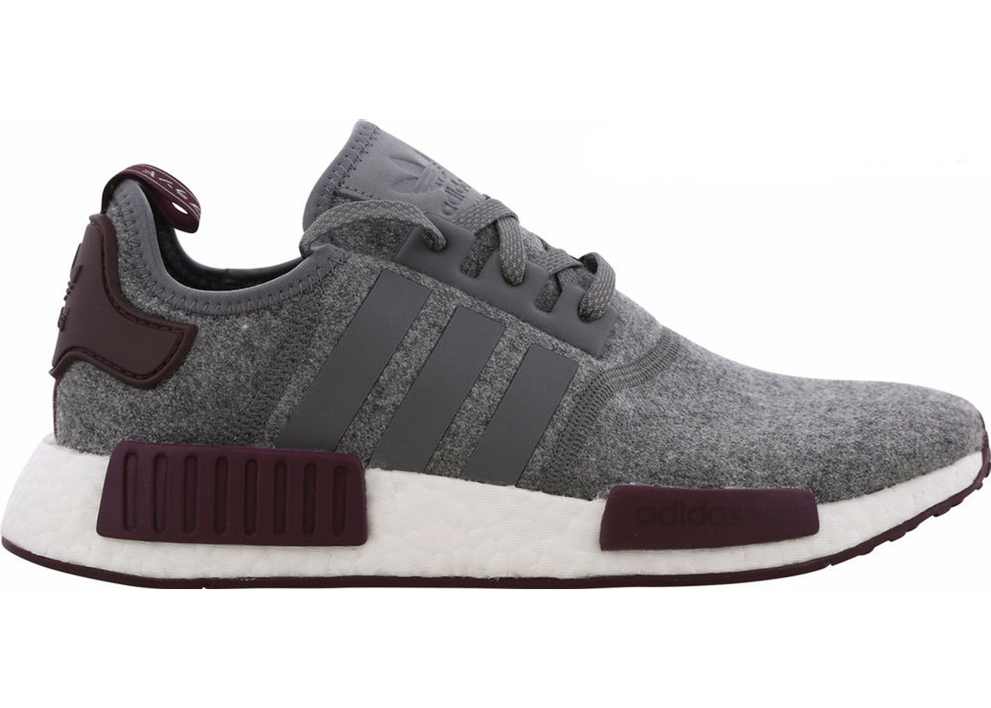 best website 697ac 3b8c9 Sell. or Ask. Size  12. View All Bids. adidas NMD R1 Wool Grey Four Maroon