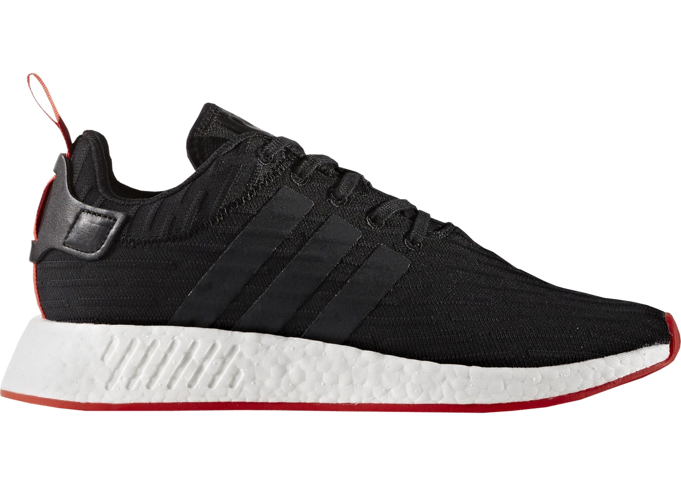 4c00ad55713439 adidas NMD R2 Core Black Red