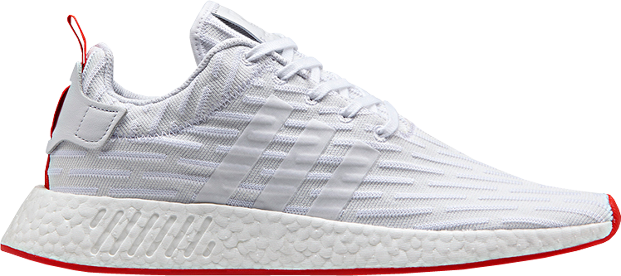 "adidas NMD R2 White Core Red ""Two Toned"""