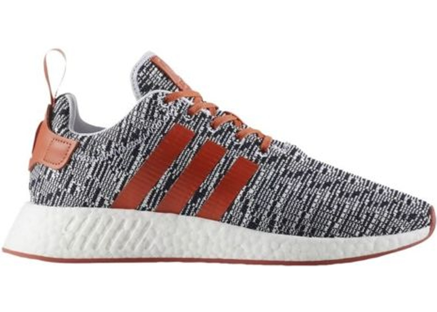 the best attitude a6d50 5414f adidas NMD R2 White Grey Solar Red