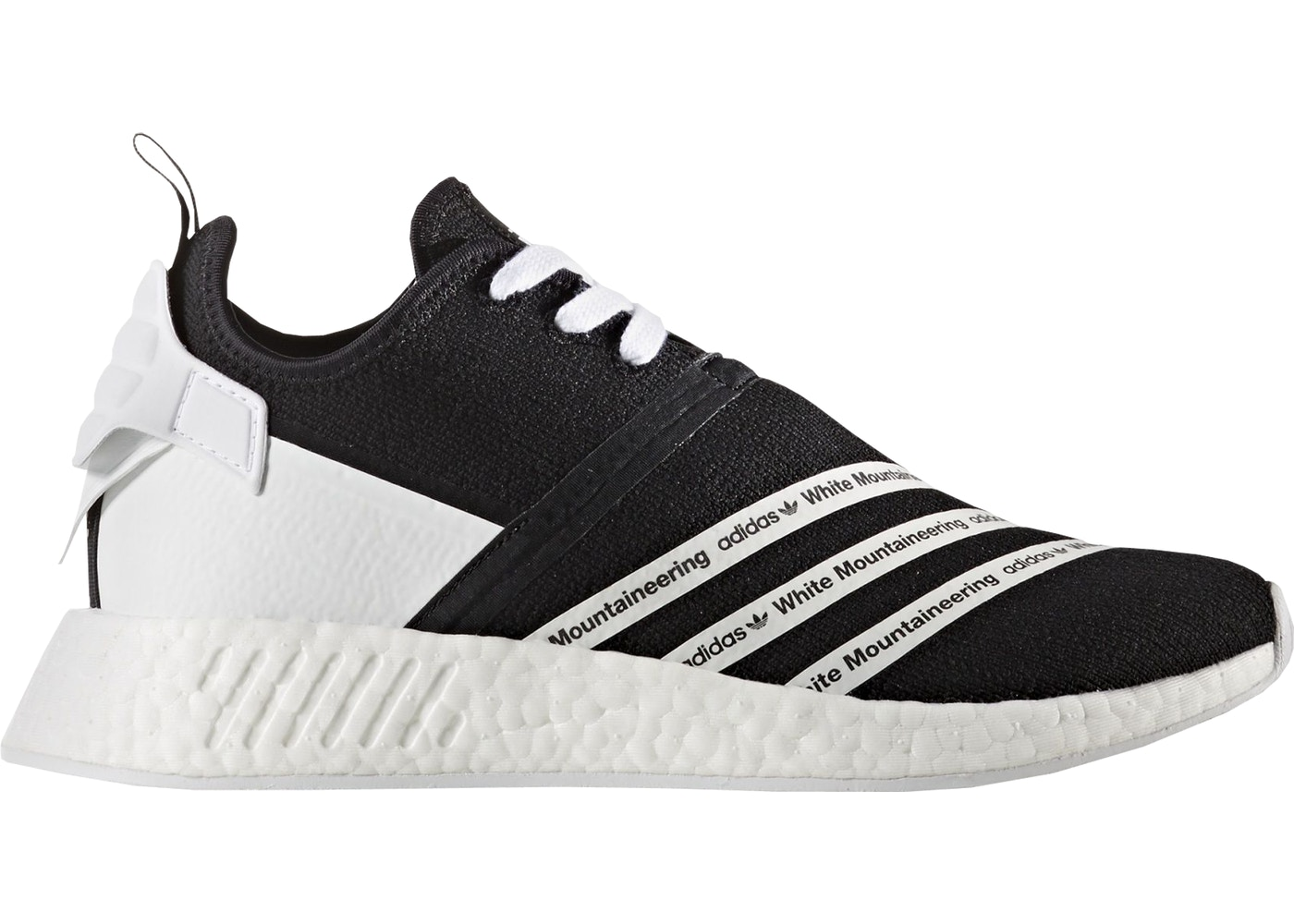 49cd78669fc4c adidas NMD R2 White Mountaineering Black White - CG3648