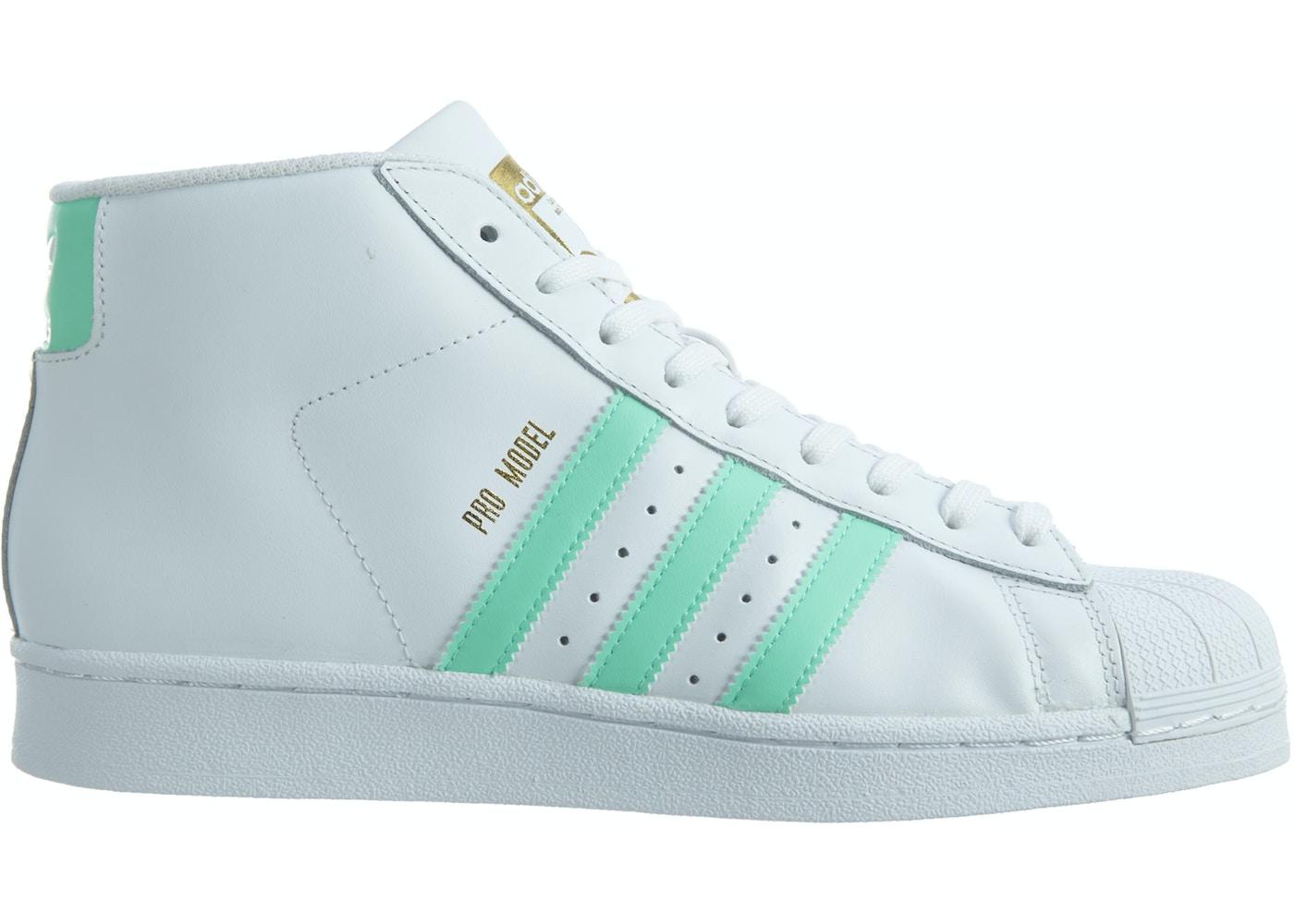 watch 40ae7 73537 adidas Pro Model White Green-Metallic Gold