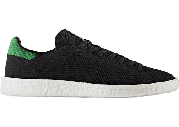 ffa896b646f adidas Stan Smith Boost Primeknit Black Green - BZ0095