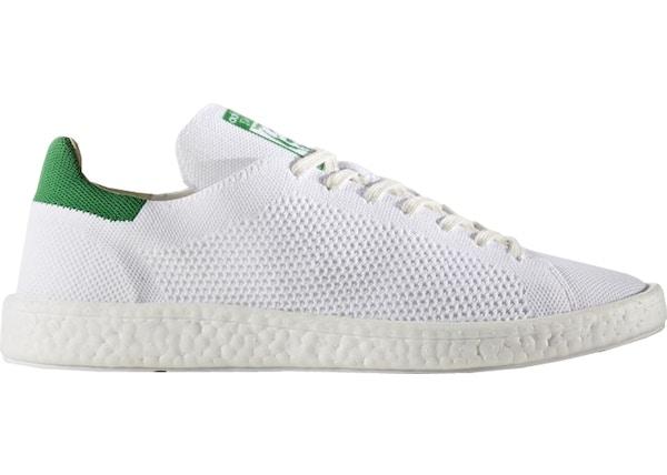 300033a3 adidas Stan Smith Boost Primeknit White Green
