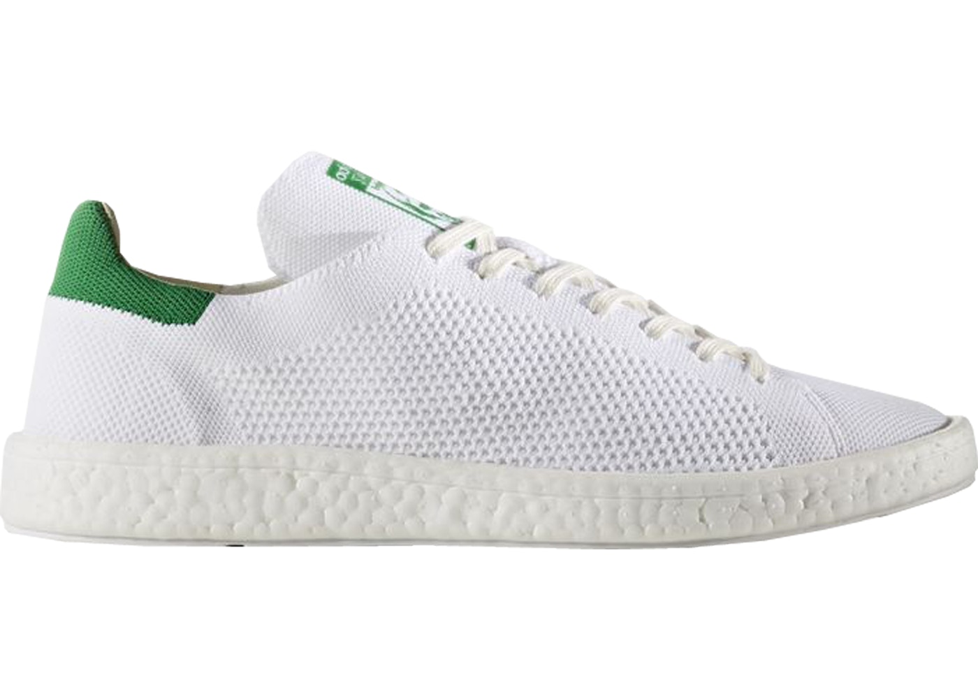 online retailer 33066 aad0a adidas Stan Smith Boost Primeknit White Green