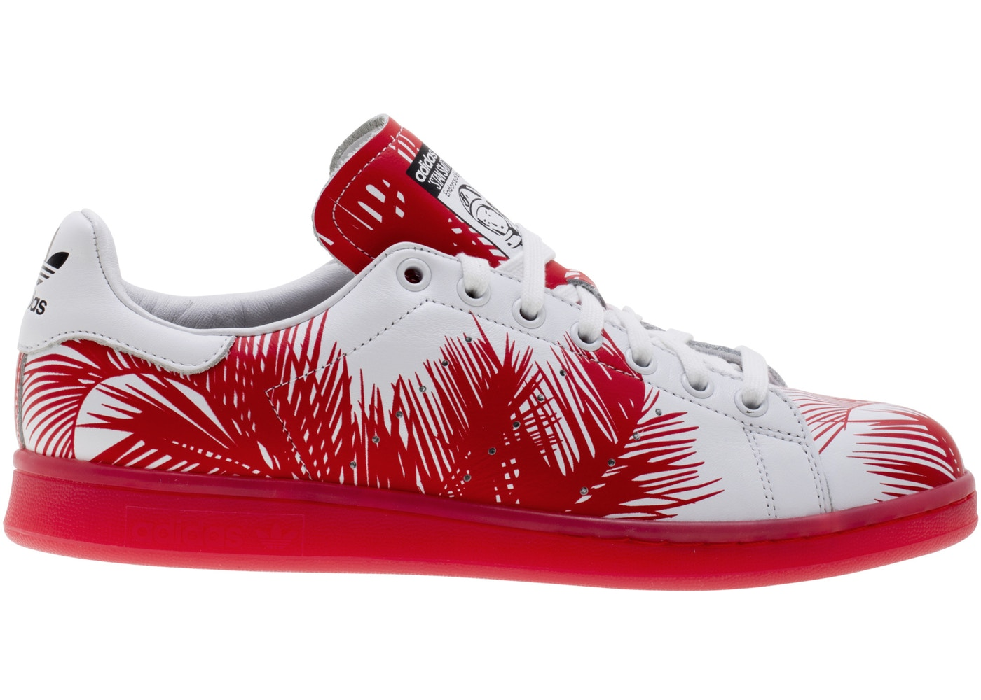 separation shoes e2f96 f8d09 adidas Stan Smith Pharrell BBC Palm Tree Red