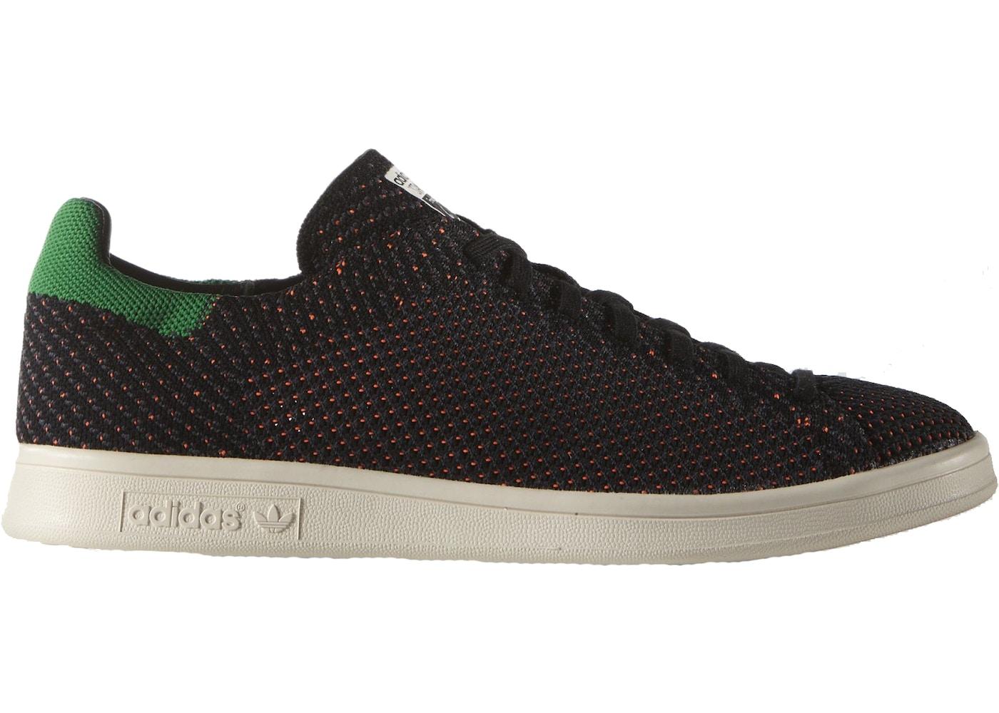 adidas Stan Smith Primeknit Black Green Orange S82633