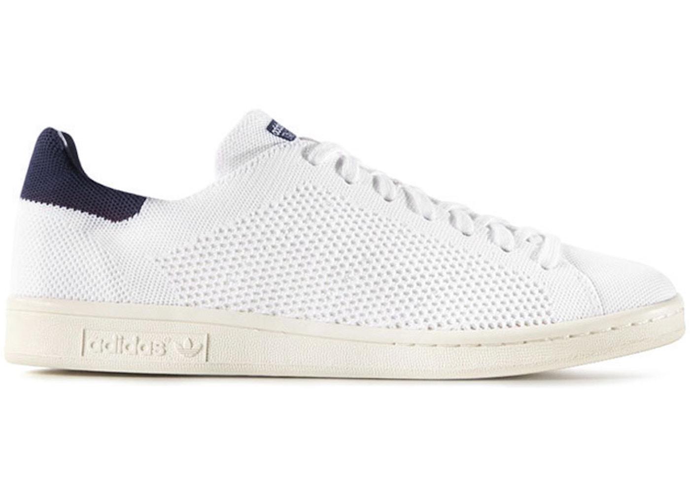timeless design 86c4a 7bbe2 adidas Stan Smith Primeknit White Blue