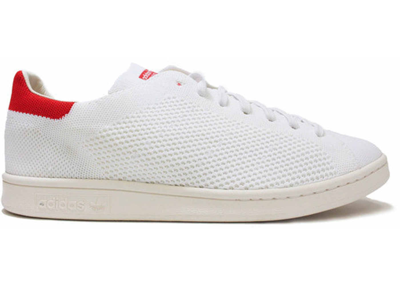 hot sales d2f6b 65ea4 adidas Stan Smith Primeknit White Red