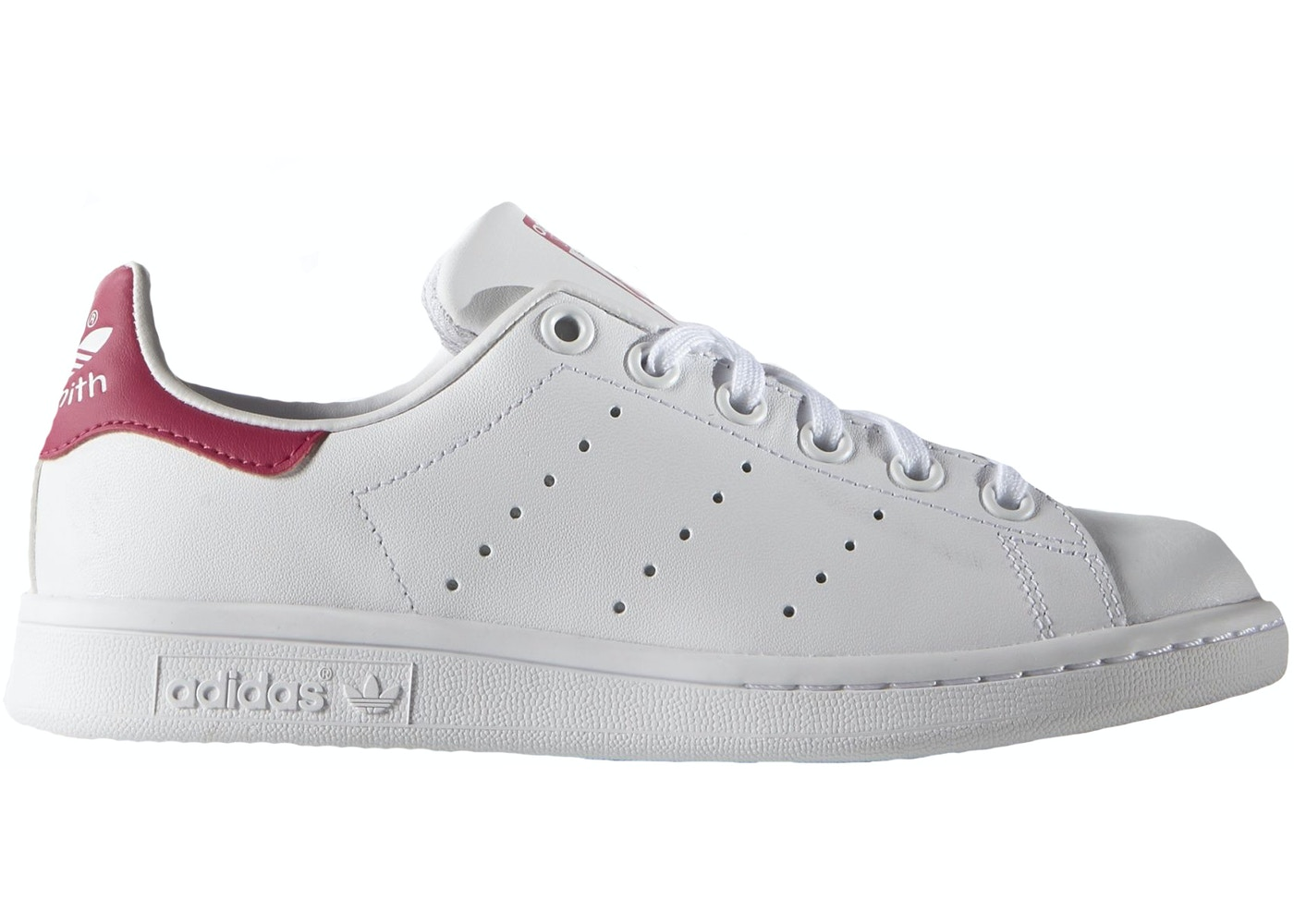 best sneakers 23502 86bed adidas Stan Smith White Pink (GS)