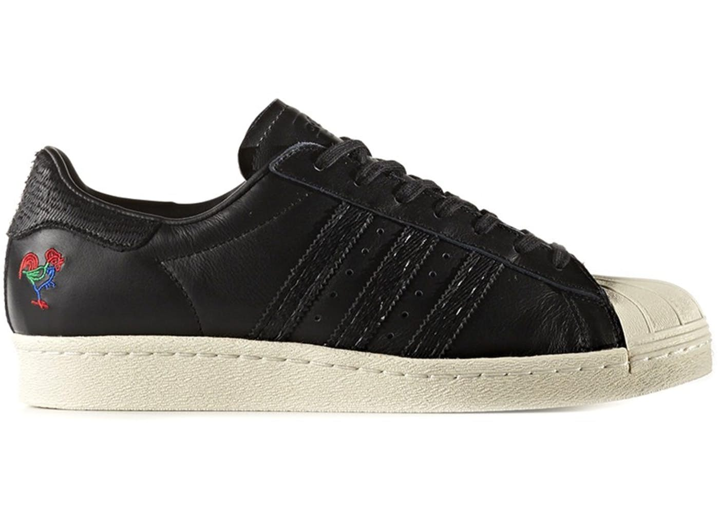 fa4c3814 Adidas Superstar 80s CNY (Core Black & Chalk White) End Clothing
