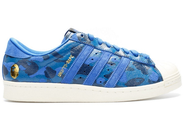 3cb14195 Size 7.5x. grid list. TOP. adidas Superstar 80s Undftd Bape Blue Camo