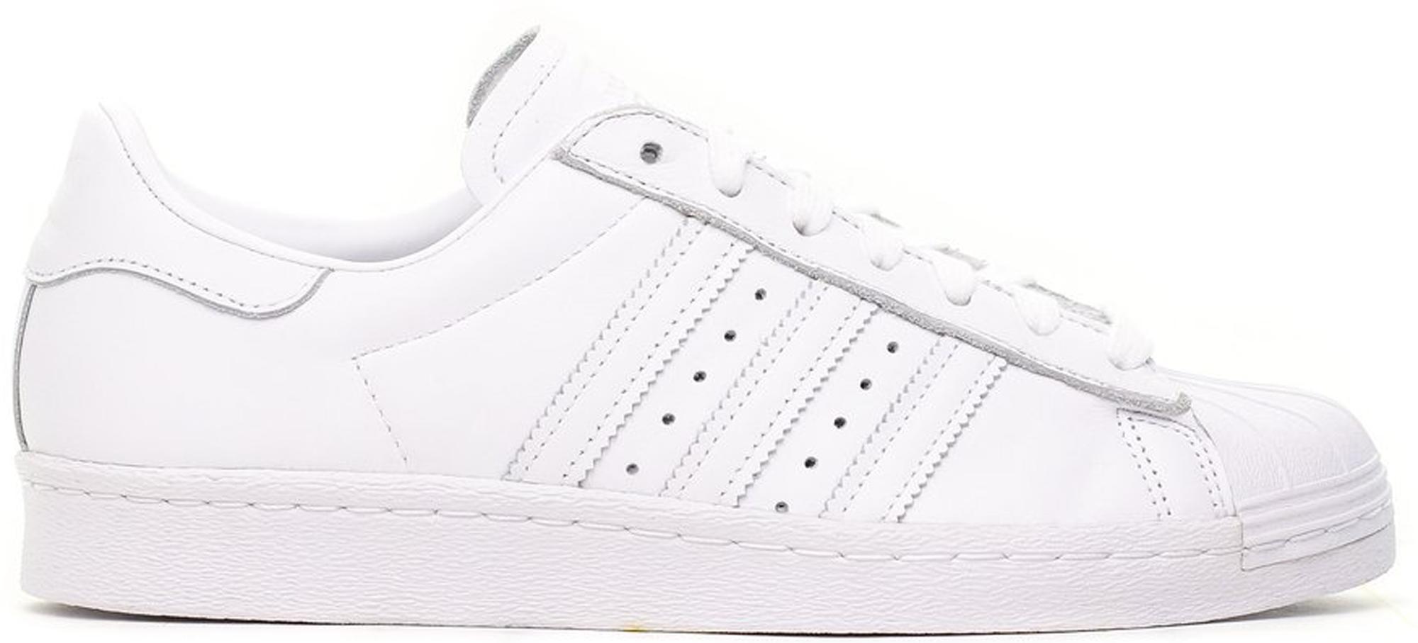 Adidas Originals Adidas Superstar 80s Valentine's Day 2018 (w) In Footwear White/footwear White/scarlet