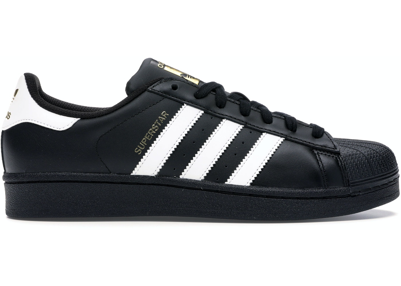 adidas superstar black white sale