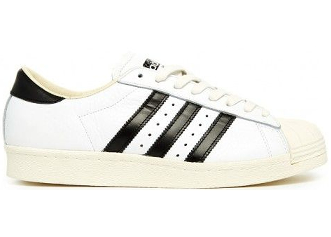 reputable site e226d a2f93 adidas Superstar Made In France White Black