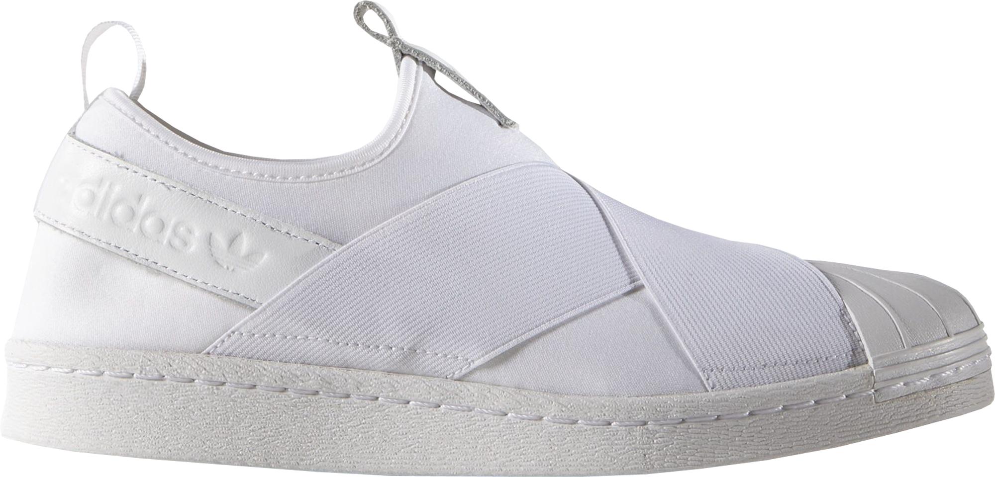 adidas all white slip on