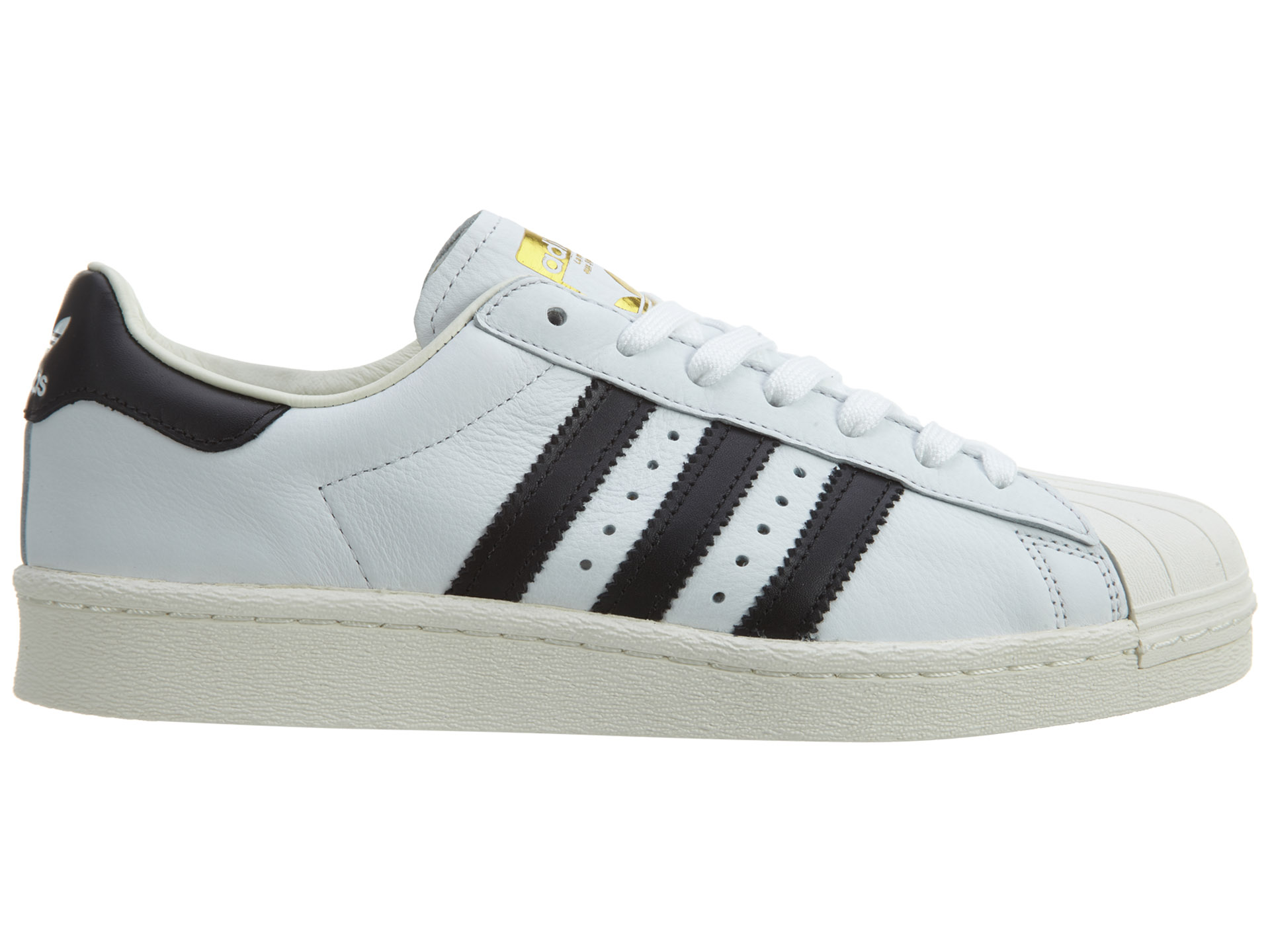 adidas Superstar White/Black/Gold Metallic