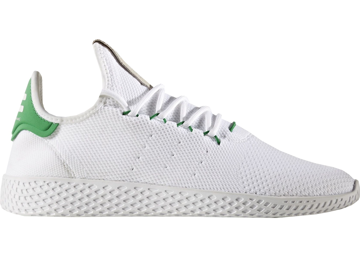 e50e74f3 adidas Tennis HU Pharrell White Green - BA7828